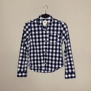 Abercrombie Blue Plaid Button Down Shirt